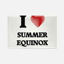 I love Summer Equinox Magnets