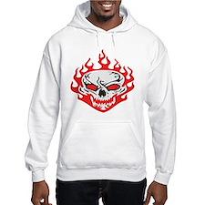 Flaming Red Skull Hoodie