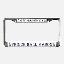 G. W. Gaines Freemason License Plate Frame