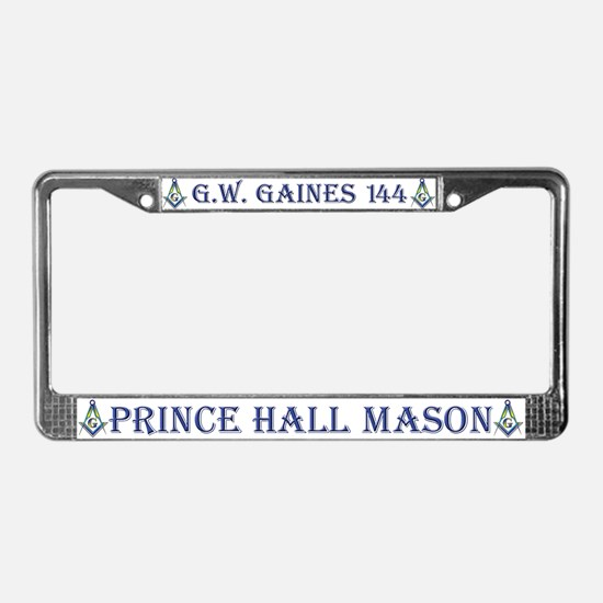 G. W. Gaines Freemason License Plate Frame
