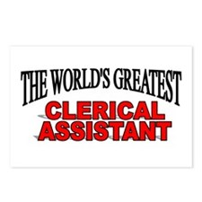 """The World's Greatest Clerical Assistant"" Postcard"
