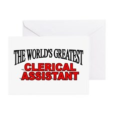 """""""The World's Greatest Clerical Assistant"""" Greeting"""
