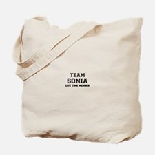 Team SONIA, life time member Tote Bag