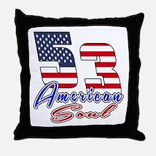53 American Soul Birthday Designs Throw Pillow
