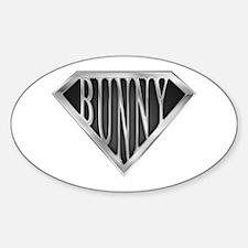 SuperBunny(metal) Oval Decal