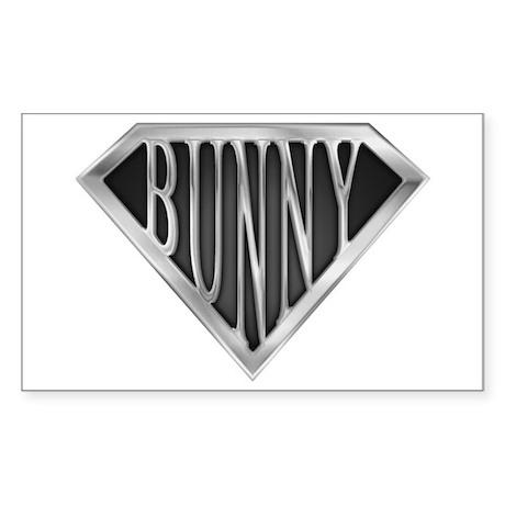 SuperBunny(metal) Rectangle Sticker