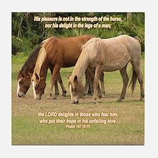 Wild Horses Inspirational Tile Coaster