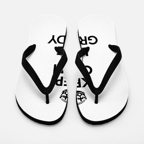 Keep Calm and Love GRUNDY Flip Flops