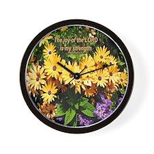 """My Joy"" Flower Inspirational Wall Clock"