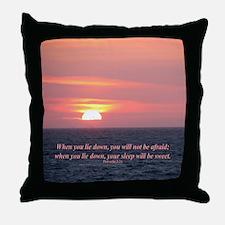 """Sweet Sleep"" Sunset Inspirational Throw Pillow"