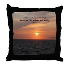 """Sleep in Peace"" Throw Pillow"