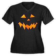 Jack O Laugh Women's Plus Size V-Neck Dark T-Shirt