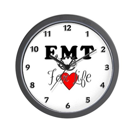 EMT FOR LIFE Wall Clock