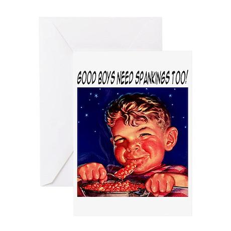 Good Boy Spanking Greeting Card