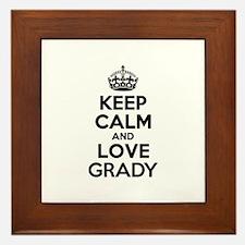 Keep Calm and Love GRADY Framed Tile