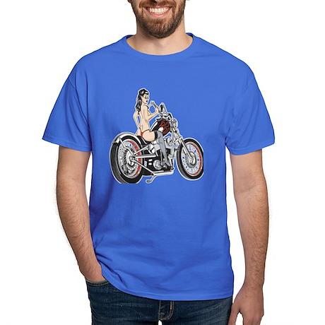 Sexy Biker Chick Dark T-Shirt