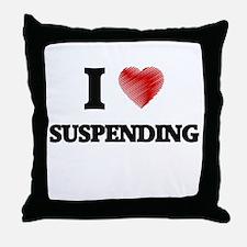 I love Suspending Throw Pillow