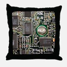 Cute Circuit board Throw Pillow
