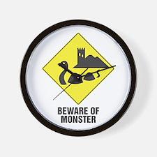 Beware of the Loch Ness Monster Wall Clock