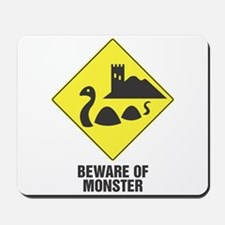 Beware of the Loch Ness Monster Mousepad