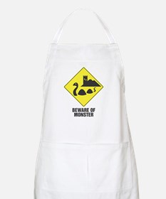 Beware of the Loch Ness Monster BBQ Apron