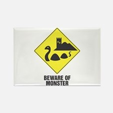 Beware of the Loch Ness Monster Rectangle Magnet (