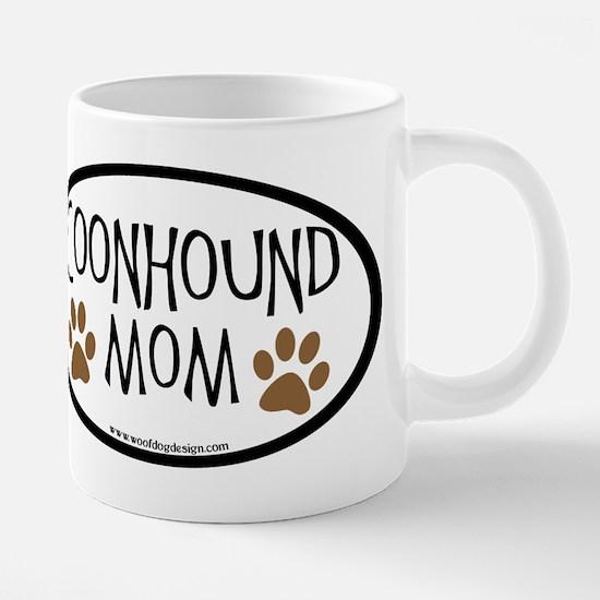 Coonhound Mom Oval Mugs