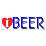 I love Beer Bumper Sticker