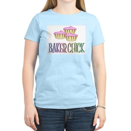 BAKER CHICK PINK CUPCAKE Women's Light T-Shirt