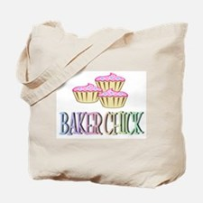 BAKER CHICK PINK CUPCAKE Tote Bag