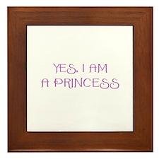 Yes, I am a Princess Framed Tile
