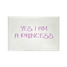 Yes, I am a Princess Rectangle Magnet