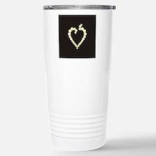 Cute Heart black Travel Mug