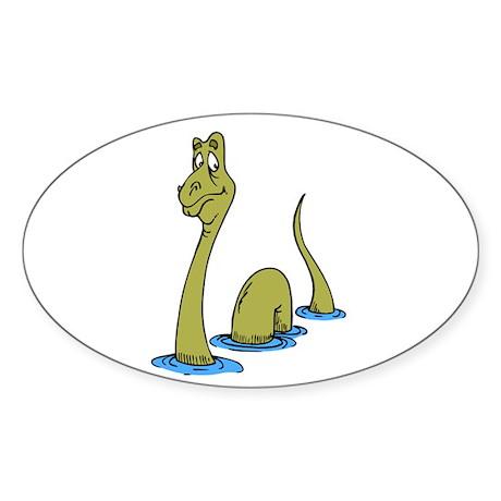 Loch Ness Monster Oval Sticker
