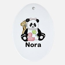 Nora's Little Panda Oval Ornament
