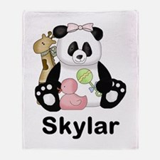 Skylar's Little Panda Throw Blanket