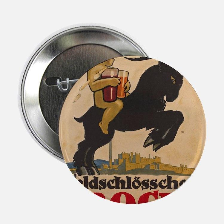 """Vintage poster - Feldschlosschen Bock 2.25"""" Button"""