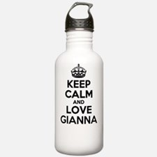 Keep Calm and Love GIA Water Bottle
