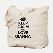 Keep Calm and Love GIANNA Tote Bag