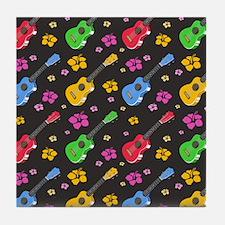 Ukulele Pattern Tile Coaster