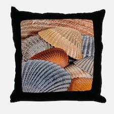Unique Blue shell Throw Pillow