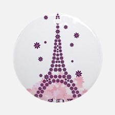 Flower Eiffel 01 Ornament (Round)