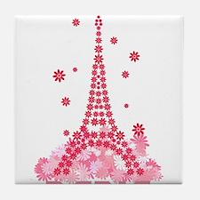 Flower Eiffel 02 Tile Coaster