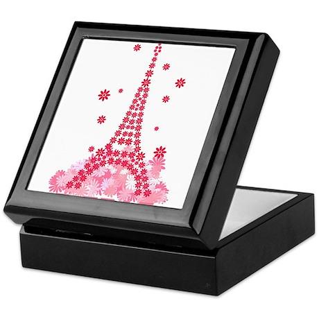 Flower Eiffel 02 Keepsake Box