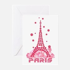 Flower Eiffel 02 Greeting Cards (Pk of 10)