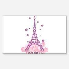 Flower Eiffel 03 Rectangle Decal