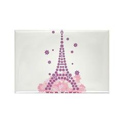 Flower Eiffel 03 Rectangle Magnet (10 pack)