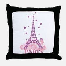Flower Eiffel 03 Throw Pillow