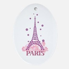 Flower Eiffel 03 Oval Ornament