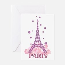 Flower Eiffel 03 Greeting Cards (Pk of 10)